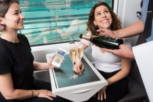 Get champagne on the Eurostar service